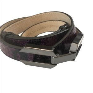 WHBM Purple Latch belt size m/l